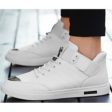 Męskie Komfortowe buty PU Jesień / Zima Adidasy Biały / Czarny / Brązowy / Na zewnątrz