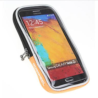 ROSWHEEL Fahrradlenkertasche Handy-Tasche 5.0 Zoll Wasserdicht Regendicht Wasserdichter Reißverschluß Staubdicht Telefon/Iphone Iphone