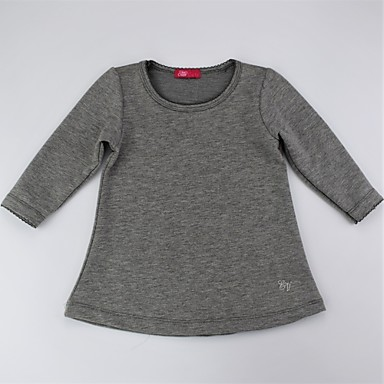 ce6da47c6 Toddler Girls' Simple / Casual / Basic Daily Solid Colored Knitted /  Knitting / Embroidered Long Sleeve Long Cotton Blouse Blushing Pink  #06561167
