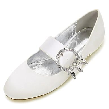 Eté Paillette mariage de Satin Chaussures Plat rond Chaussures Bleu Bout Talon Femme Ballerine Strass Brillante Noeud 06589752 Printemps 0d6txqwq