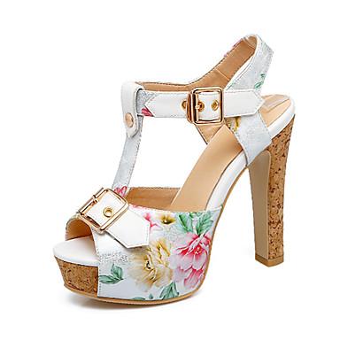 Mujer Zapatos Cuero Nobuck Verano Confort / Innovador Sandalias Tacón Cuadrado Punta abierta Negro / Almendra / Fiesta y Noche tDaZyfr