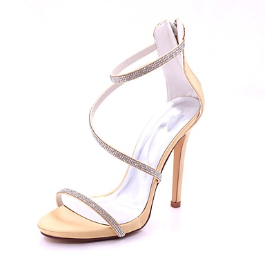 06587293 Brillante Basique Chaussures ouvert Rouge Aiguille Escarpin Talon Femme Boucle Bout Eté Sandales Printemps Paillette Satin AFwqRZ