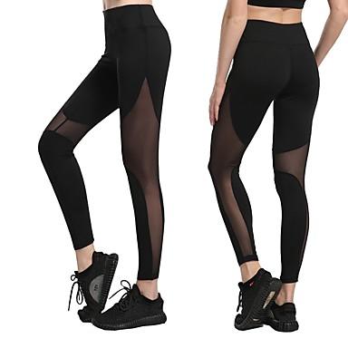 Dam Nät Yoga byxor Svart Mörkblå Grå sporter Ihålig Mesh Cykling Tights  Leggings Zumba Löpning Fitness e7f28bfde0c9b