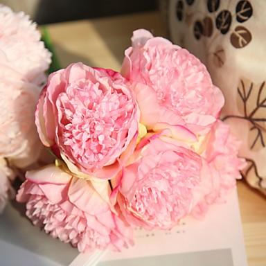פרחים מלאכותיים 5 ענף חתונה / פרחי חתונה אדמוניות פרחים לשולחן
