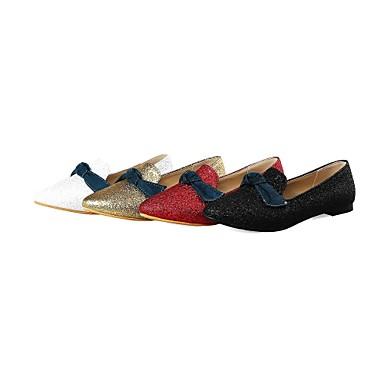 06571441 Chaussures Confort Talon Bout Similicuir Plat Blanc Noir Eté Printemps pointu Femme Ballerines Rouge IT6OcqwOd