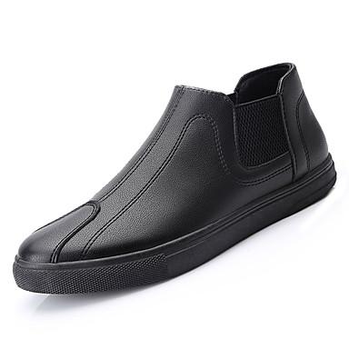 Męskie Komfortowe buty Skóra nappa Wiosna / Jesień Mokasyny i buty wsuwane Czarny / Na zewnątrz