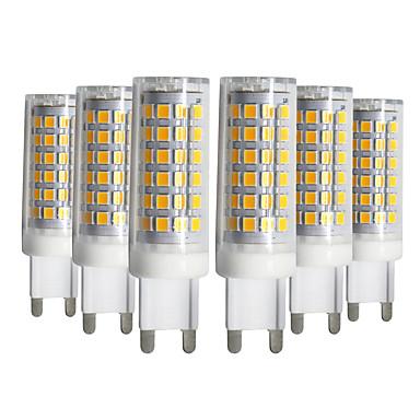 YWXLIGHT® 6pcs 9W 750-850lm G9 נורות שני פינים לד T 76 LED חרוזים SMD 2835 Spottivalo לבן חם לבן קר לבן טבעי 220-240V