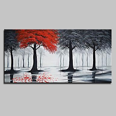 מינטורה יד צבועה ציור שמן ציור על בד מודרני מופשט עץ ציור קיר תמונות לקישוט הבית מוכן לתלות