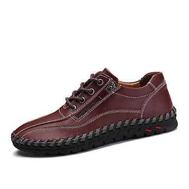 رجالي أحذية جلدية جلد ربيع & الصيف عتيق / كاجوال أحذية رياضية أزرق داكن / أصفر / بني داكن