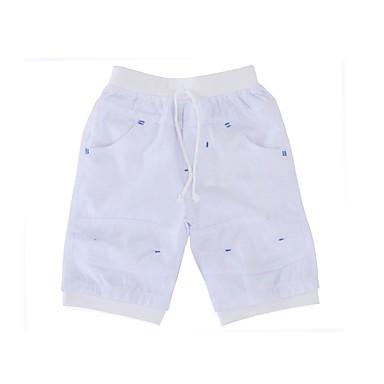 baratos Calças para Meninos-Bébé Para Meninos Simples Diário Feriado Sólido Fashion Meia Manga Algodão Shorts Preto