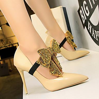 Automne Nouveauté Printemps 06600125 Chaussures PU microfibre Femme à synthétique Bout Talons Talon Chaussures pointu Aiguille de Confort 8RwYq