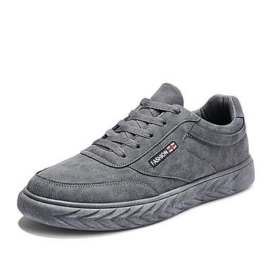 בגדי ריקוד גברים PU אביב / סתיו נוחות נעלי ספורט שחור / אפור / חאקי