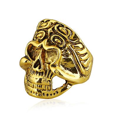 בגדי ריקוד גברים טבעת הצהרה - גולגולת רוק, צבעוני 9 זהב / כסף / קשת עבור מועדונים / בר
