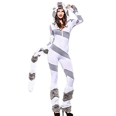 Księżniczka / Wzór zwierzęcy Sukienki / Kostiumy Cosplay Halloween / Karnawał / Nowy Rok Festiwal/Święto Kostiumy na Halloween Szary Wielokolorowa / Inny / Zwierzę