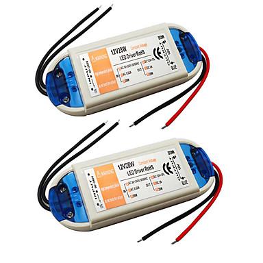 ราคาถูก อุปกรณ์เสริมหลอดไฟ-2pcs 110/220   12 V อุปกรณ์เสริมหลอดไฟ / Strip Light Accessory พลาสติก Power Supply / Power Adapter สำหรับไฟ LED Strip