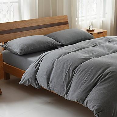 סטי שמיכה אחיד 3 חלקים פולי / כותנה חוט צבוע פולי / כותנה כיסוי שמיכת יחידה 1 כרית מיטה יחידה 1 סדין יחידה 1