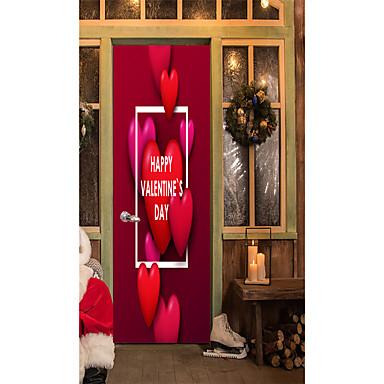 Naklejki na drzwi - Naklejki ścienne lotnicze / Naklejki na mapę Litery / Kształty Sypialnia / Domowy / Możliwość zmiany miejsca