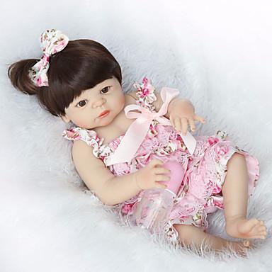 hesapli Oyuncaklar ve Oyunlar-NPKCOLLECTION NPK DOLL Yeniden Doğmuş Bebekler Bebek 22 inç Tam Vücut Silikon Silikon Vinil - Yeni doğan canlı Tatlı El Yapımı Çocuk Kilidi Yeni Dizayn Kid Unisex / Genç Kız Oyuncaklar Hediye