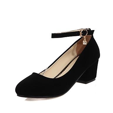 Escarpin Basique Eté Talons 06573562 Boucle Talon Bottier à Femme Noir Similicuir Chaussures Chaussures Rouge rond Printemps Bout n18wWa4Iax