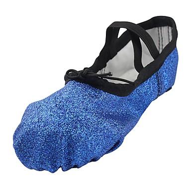 Women's Ballet Shoes Sparkling Glitter Flat Shoes Flat Heel Customizable Dance Shoes Flat Blue / Practice 74a190