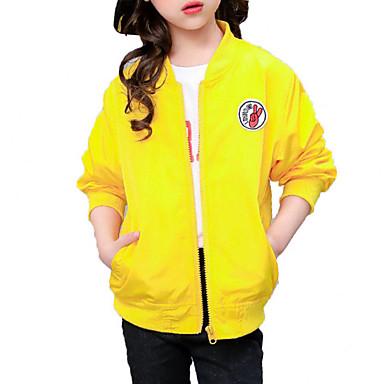 ז'קט ומעיל שרוול ארוך אחיד / דפוס ספורט פשוט / יום יומי בנות ילדים