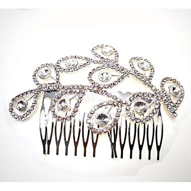 סגסוגת רצועות עם קריסטל / ריינסטון 1pc חתונה כיסוי ראש