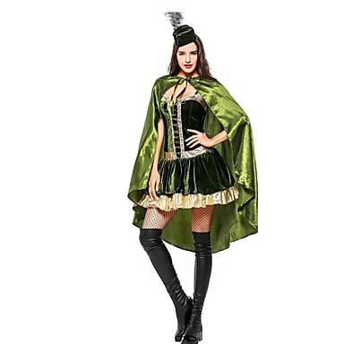 Super Heroes Księżniczka Sukienka Kostiumy Cosplay Halloween Karnawał Nowy Rok Festiwal/Święto Kostiumy na Halloween Stroje Zielony Kolorowy blok Inne Zwierzę