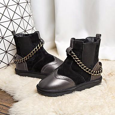 Automne Hiver de Bottine Bottes Demi neige Bas Confort Chaussures Marron Talon Laine Bottes Noir Botte 06600819 Femme EqPcS1f