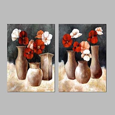 ציור שמן צבוע-Hang מצויר ביד - טבע דומם וינטאג' בַּד