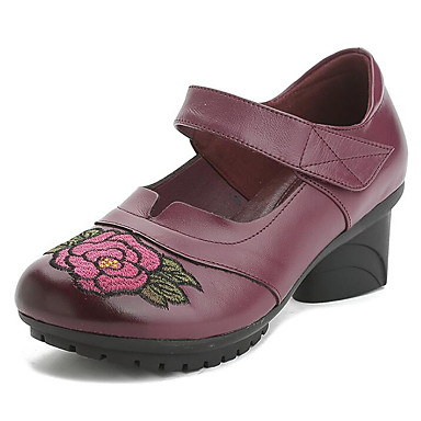 dc2d0be04271c Talon Foncé Printemps Cuir Automne 06626472 Talons Confort Femme Noir  Chaussures Rouge à Violet Bottier Chaussures ...