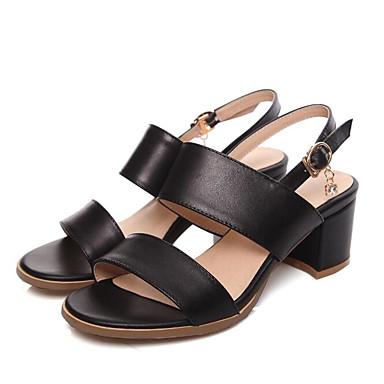 06633012 Bottier Confort Talon Eté Chaussures Cuir Noir Basique Sandales Femme Blanc Escarpin PqH7xx8