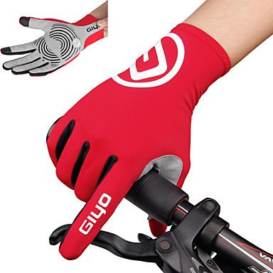abordables Gants Velo-Gants vélo / Gants Cyclisme Gants de VTT Respirable Antidérapant Anti-transpiration Protectif Gants sport VTT Vélo tout terrain Vélo Route Bleu Ciel Rouge Rose pour Adulte Extérieur