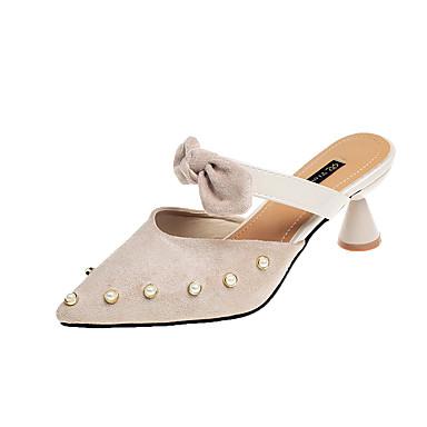 Mulheres Sapatos Couro Ecológico Verão Conforto Rasos Caminhada Salto Baixo Dedo Aberto Preto / Bege / Amarelo
