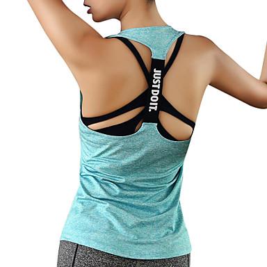 Žene Open Back Futó atléta Sportski Elastan Majice Yoga Fitness Trening u teretani Odjeća za rekreaciju Quick dry Prozračnosti Izzadás-elvezető Rastezljivo