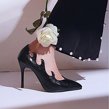 Aiguille Noir Nouveauté Talon Femme Chaussures Bout Blanc Vin Eté Confort Similicuir pointu Chaussures Talons 06640209 à Automne x1x46