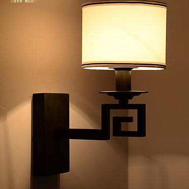 Antyrefleksyjny Rustykalny Lampy ścienne Salon Drewno / Bambus Światło ścienne 220-240V 40 W / E27