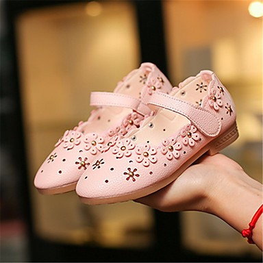 5b372ed248ab Girls  Shoes Leatherette Spring   Fall Flower Girl Shoes   Tiny Heels for  Teens Heels for White   Pink   Light Blue 6611653 2019 –  14.99