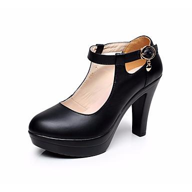 Boucle Basique 06621223 Femme rond Blanc Cuir Eté Chaussures Bottier Printemps à Escarpin Talons Noir Chaussures Talon Bout XqawOaxA7p