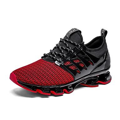 billige Sportssko-Herre Novelty Shoes Tyll Sommer Sportssko Løp Svart / Grønn / Rød / Atletisk / EU40