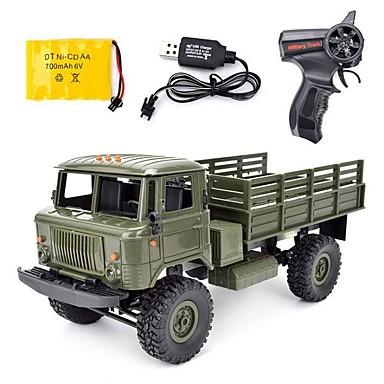 RC samochodów WPL B-24 GAZ-66 4 kanały 2,4G Drogowy / Ciężarówka 1:16 Silnik bezszczotkowy 10 km/h KM / H
