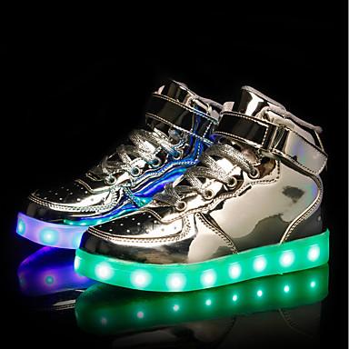 baratos Sapatos de Criança-Para Meninos / Para Meninas Couro Ecológico Tênis Little Kids (4-7 anos) / Big Kids (7 anos +) Tênis com LED LED Branco / Preto / Prata Primavera / TR