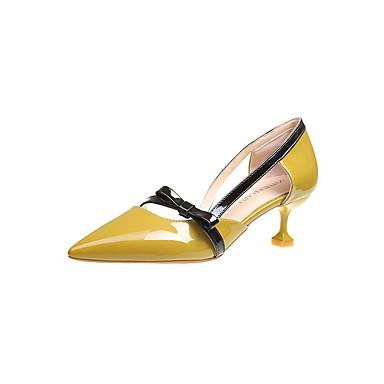 Női Cipő Fordított bőr Ősz Kényelmes Lapos Alacsony Erősített lábujj mert Bézs Sárga Rózsaszín