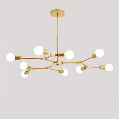 Europa Północna żyrandol 9-głowicowe nowoczesne molekuły metali wisiorek światła salon jadalnia sypialnia malowana