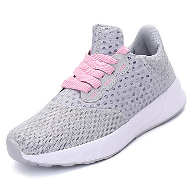 Women's Shoes Tulle Spring / Comfort Fall Comfort / Athletic Shoes Running Shoes Flat Heel Round Toe Black / Light Grey 4538fc
