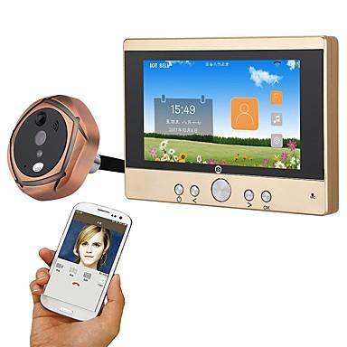 MOUNTAINONE SY501 720P WiFi Peephole Door Viewer Przewodowy / a Fotografowane / Nagranie 5 in Bezdotykowy / TELEFON 480*854 Pixel One to One video domofon