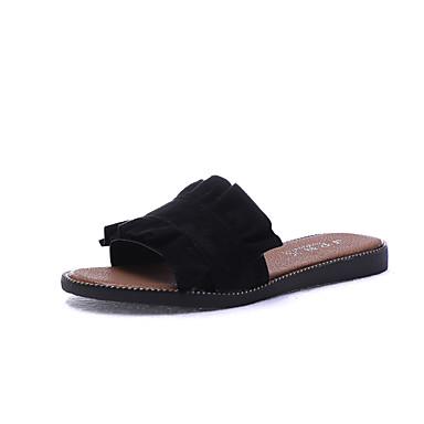Mulheres Sapatos Borracha Verão Conforto Sandálias Caminhada Creepers para Ao ar livre Branco Preto Azul