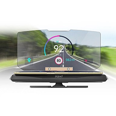voordelige Auto-interieur accessoires -ziqiao universele auto gps hud head-up display houder voor auto display km / h mph