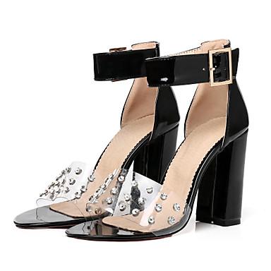 Bottier de Cheville Rivet ouvert Chaussures Amande Bride Talon Eté Similicuir Femme Rose 06647826 Bout Boucle Rouge Sandales xwgB8fqcI