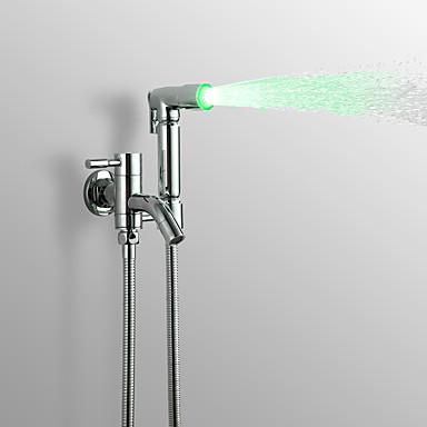 Współczesny Suchawka Prysznicowa / Oświetlenie kranu Chrom Cecha - Deszcz, Głowica prysznicowa
