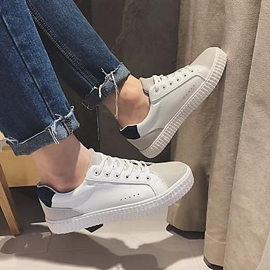 Męskie Komfortowe buty PU Wiosna / Jesień Adidasy Czerwony / Niebieski / Na zewnątrz